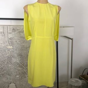 New Marni silk yellow dress size 40 4-6